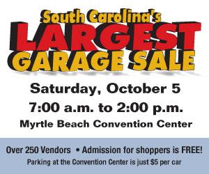 Attendee banner ad Garage Sale
