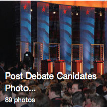 Post Debate Candidate Photos