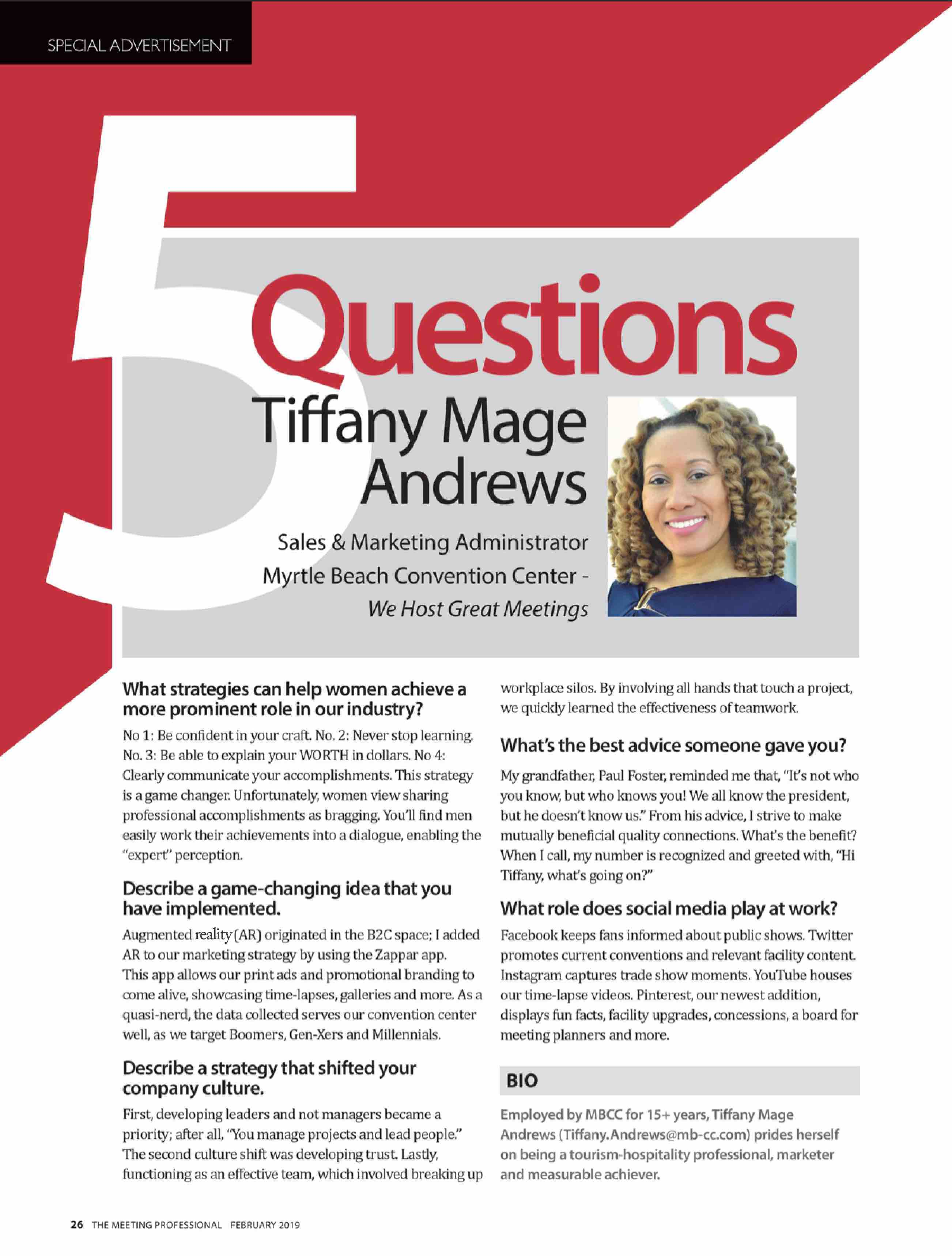 Tiffany Andrews MPI article