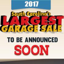 2017 SC Largest Garage Sale Date Announcement